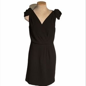 Ann Taylor Loft Capped Sleeve Black Dress